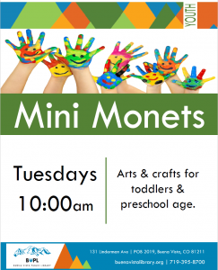 Mini Monets @ Buena Vista Public Library | Buena Vista | Colorado | United States