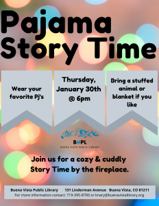 Pajama Story Time @ Buena Vista Public Library | Buena Vista | Colorado | United States