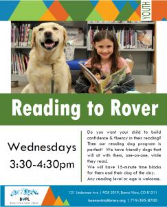 Reading to Rover @ Buena Vista Public Library   Buena Vista   Colorado   United States