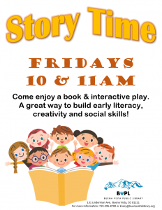 Story Time - 11AM @ Buena Vista Public Library | Buena Vista | Colorado | United States