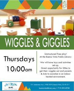 WIGGLES & GIGGLES @ Buena Vista Public Library | Buena Vista | Colorado | United States