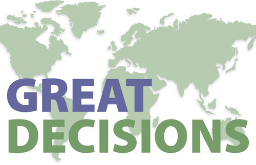 Great Decisions – Online Meeting