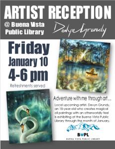 Devyn Grundy - Artist Reception @ 131 Linderman Ave   Buena Vista   Colorado   United States